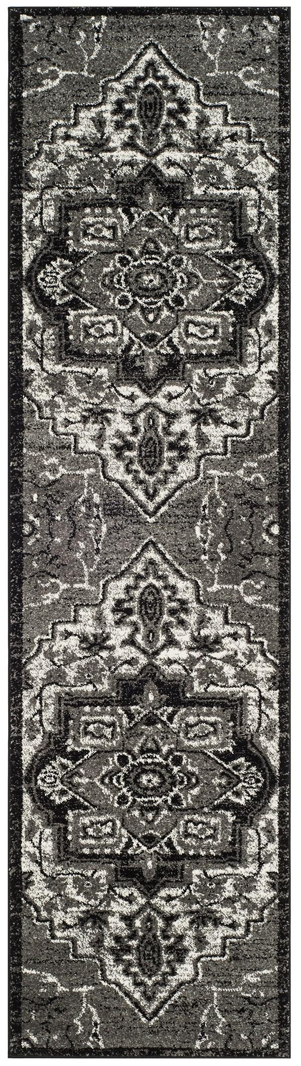 Grey (K) Traditional / Oriental Area Rug