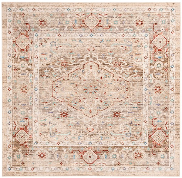 Ivory, Brown (G) Vintage / Overdyed Area Rug