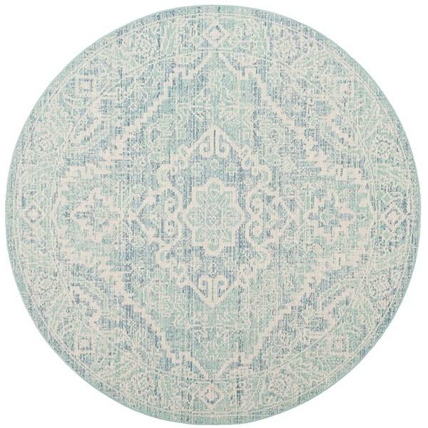 Seafoam, Blue (J) Vintage / Overdyed Area Rug