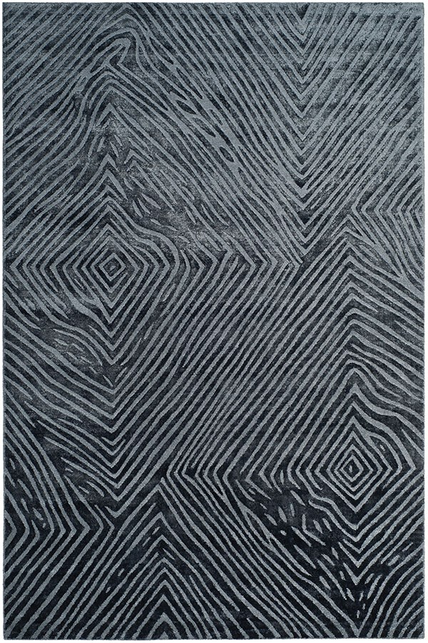 Dark Blue (B) Contemporary / Modern Area Rug