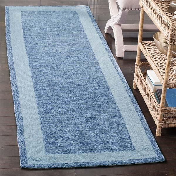 Blue (E) Traditional / Oriental Area Rug