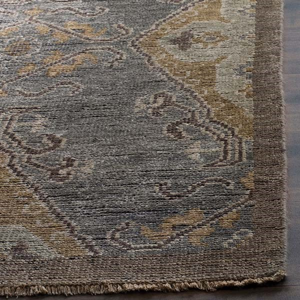 Charcoal, Taupe (A) Traditional / Oriental Area Rug