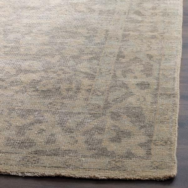 Light Grey, Light Mint (A) Vintage / Overdyed Area Rug