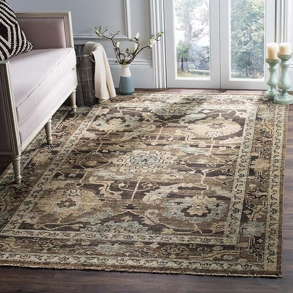 Charcoal, Stone (A) Traditional / Oriental Area Rug