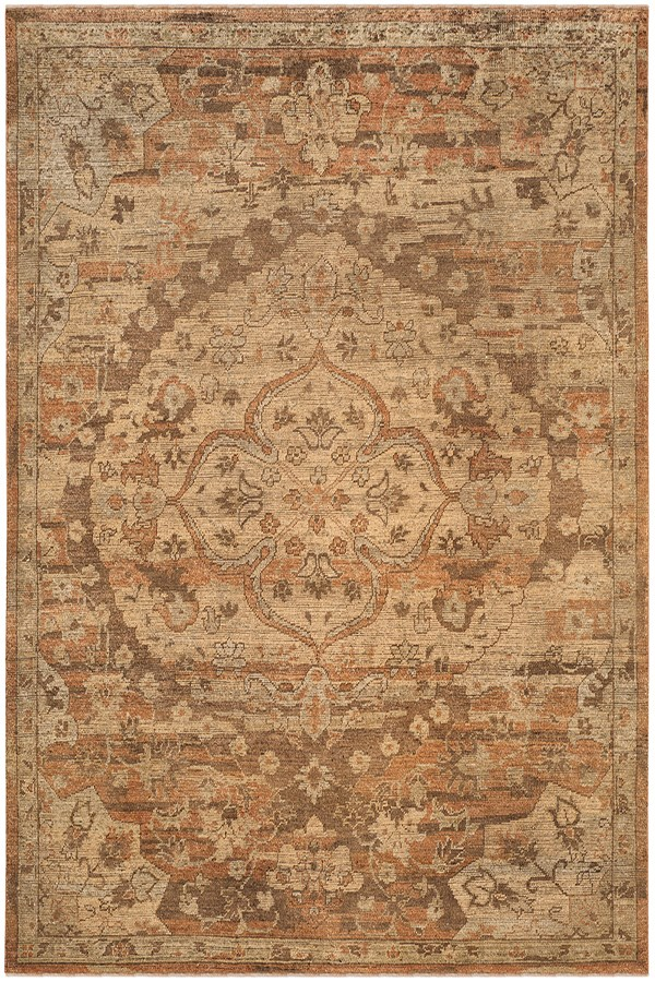 Gold, Rose (A) Traditional / Oriental Area Rug