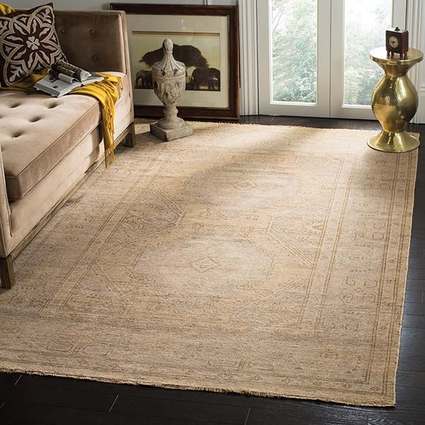 Gold, Grey (A) Traditional / Oriental Area Rug