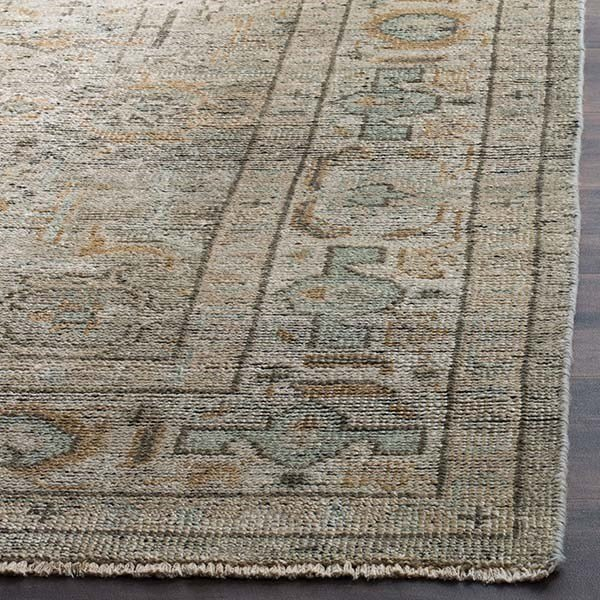 Linen, Dusty Teal (A) Vintage / Overdyed Area Rug