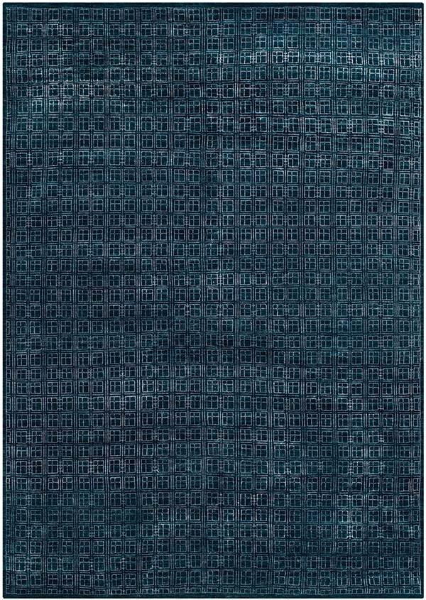 Navy (A) Contemporary / Modern Area Rug