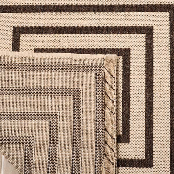 Natural, Brown (B) Contemporary / Modern Area Rug