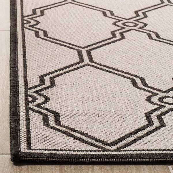 Light Grey, Charcoal (A) Transitional Area Rug