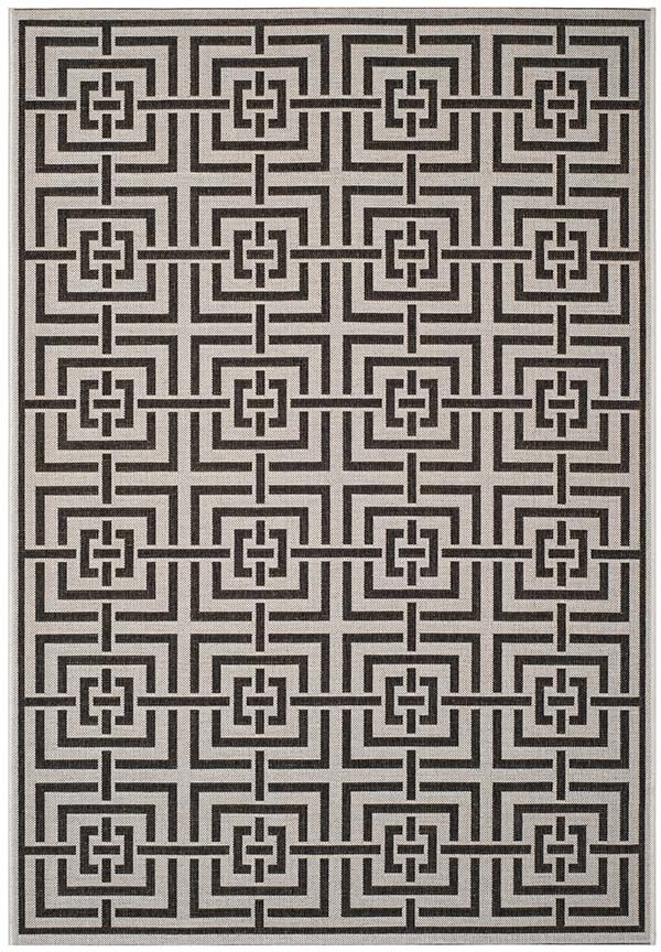 Light Grey, Charcoal (A) Contemporary / Modern Area Rug