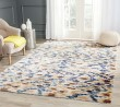 Product Image of Cream, Blue (A) Ikat Area Rug