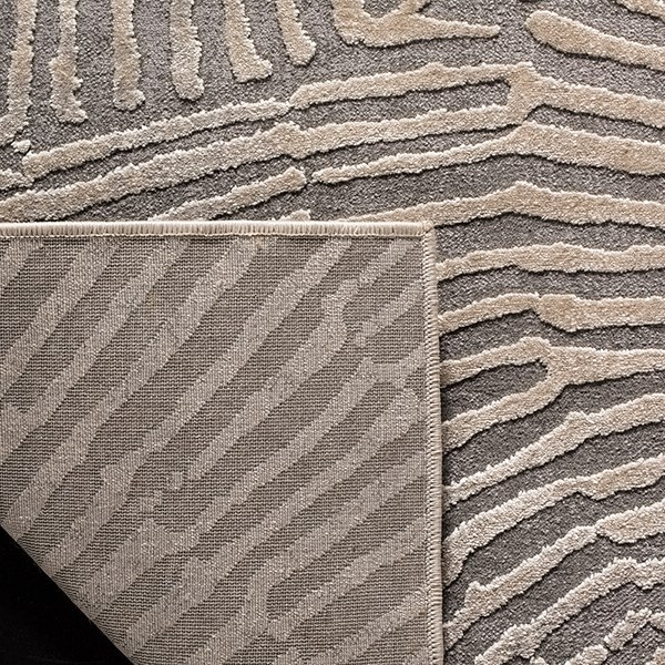 Taupe (E) Contemporary / Modern Area Rug