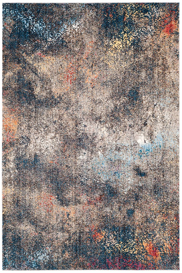Blue (E) Abstract Area Rug