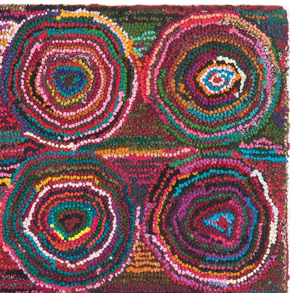 Pink (A) Contemporary / Modern Area Rug