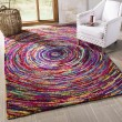 Product Image of Red, Blue (A) Geometric Area Rug