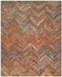 Product Image of Chevron Red, Blue (B) Area Rug