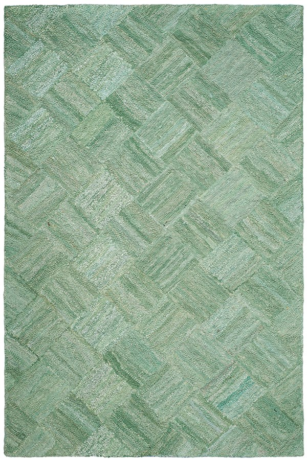 Green (A) Geometric Area Rug
