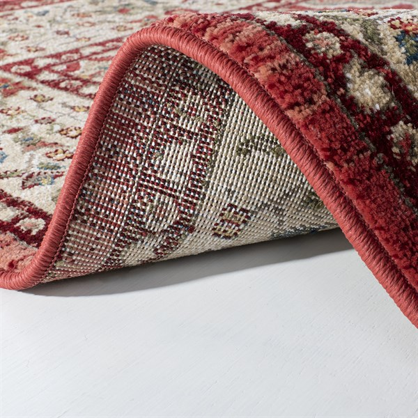 Red, Beige Traditional / Oriental Area Rug