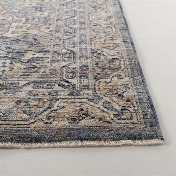 Light Blue Traditional / Oriental Area Rug