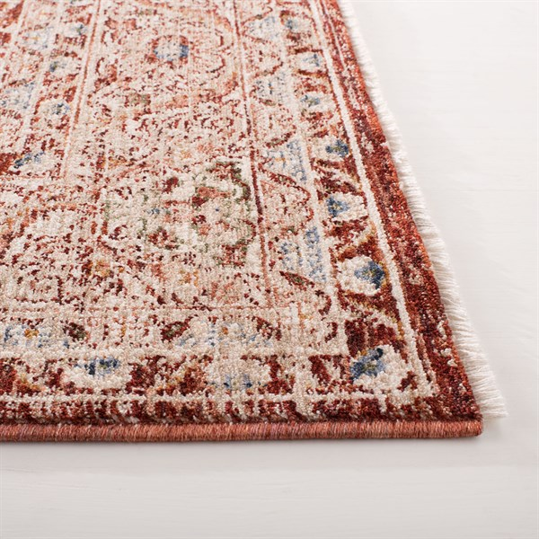 Orange, Red Traditional / Oriental Area Rug