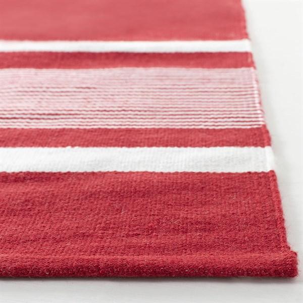 Red, Ivory Outdoor / Indoor Area Rug