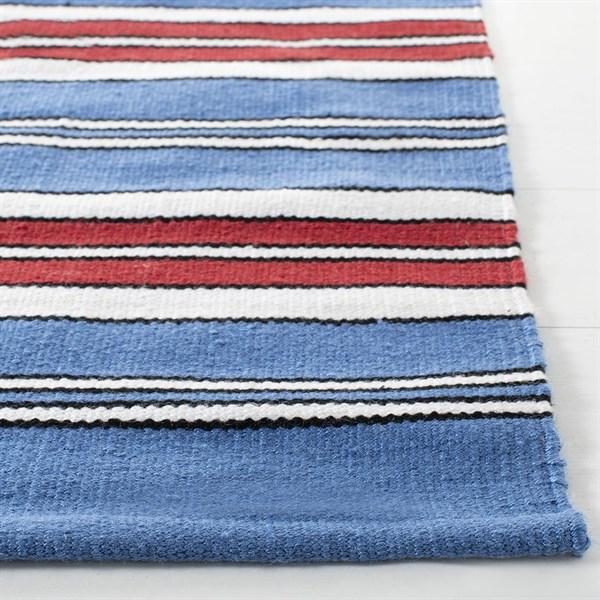 Blue, Red Outdoor / Indoor Area Rug