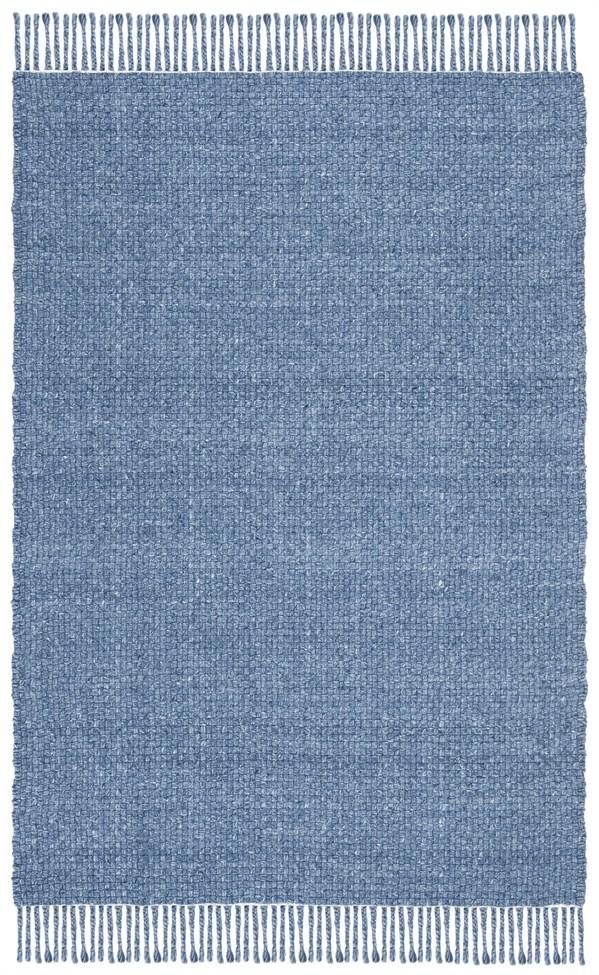 Blue, Denim Natural Fiber Area Rug