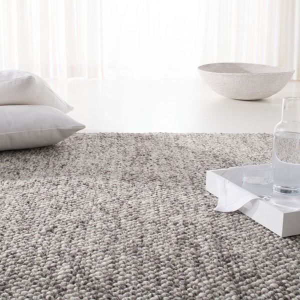 Grey, Ivory, Brown (B) Contemporary / Modern Area Rug