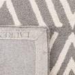 Product Image of Taupe, White Geometric Area Rug