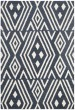 Product Image of Geometric Slate, White Area Rug