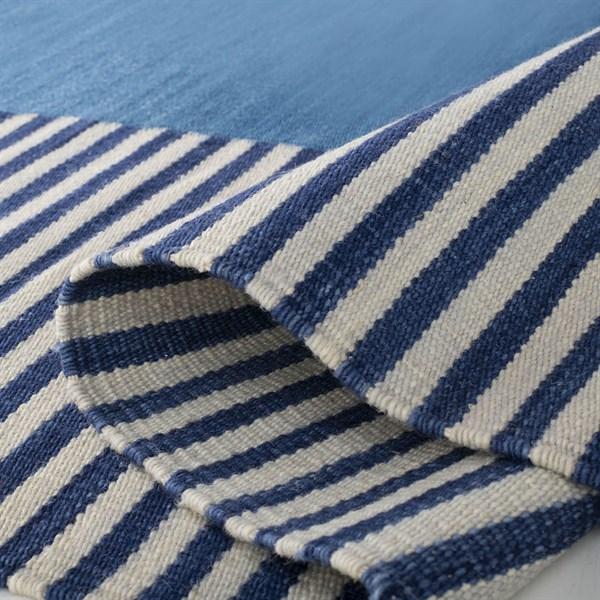 Blue, Cream (B) Contemporary / Modern Area Rug