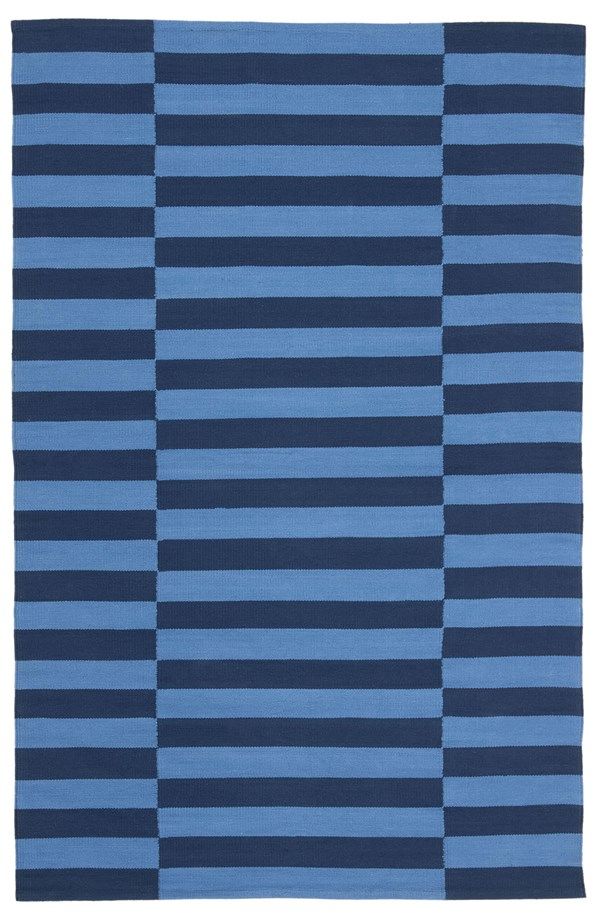 Blue, Navy (A) Contemporary / Modern Area Rug