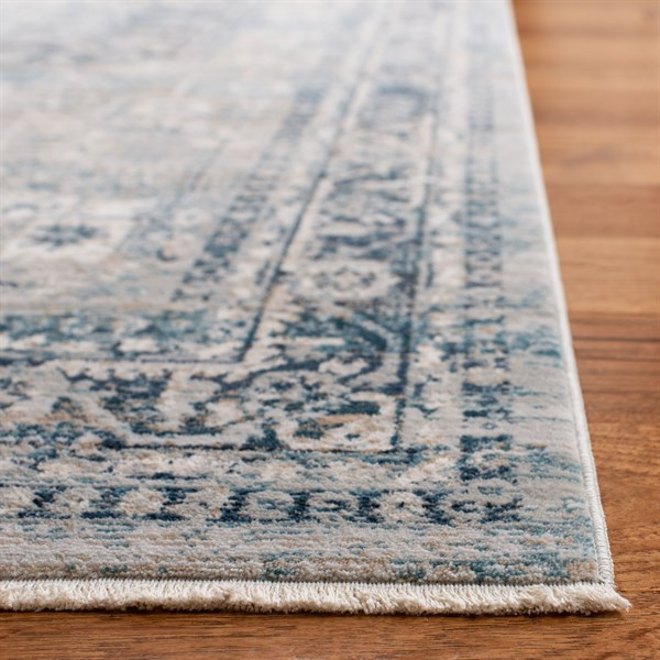 Blue, Grey (F) Vintage / Overdyed Area Rug