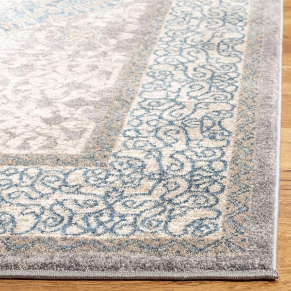 Light Grey, Blue (A) Persian Area Rug