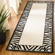 Product Image of White, Black (A) Contemporary / Modern Area Rug