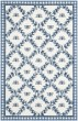 Product Image of Floral / Botanical Ivory, Blue (D) Area Rug