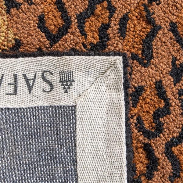 Black, Brown (A) Animals / Animal Skins Area Rug