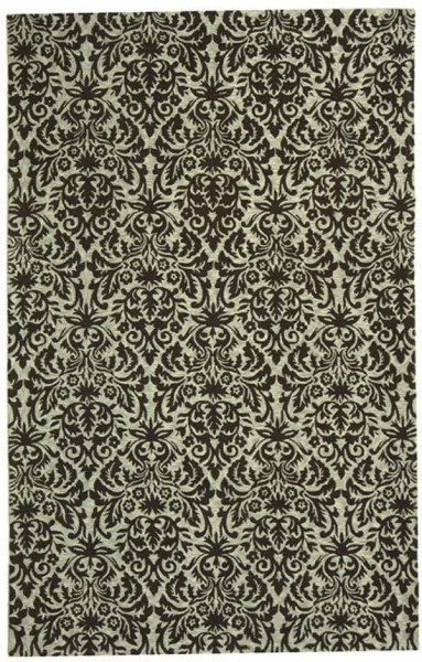 Sage, Chocolate (C) Traditional / Oriental Area Rug