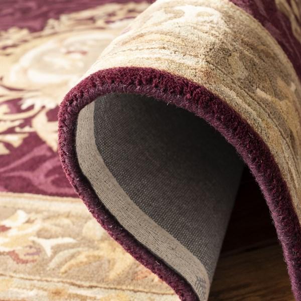 Dark Red, Dark Beige (A) Traditional / Oriental Area Rug
