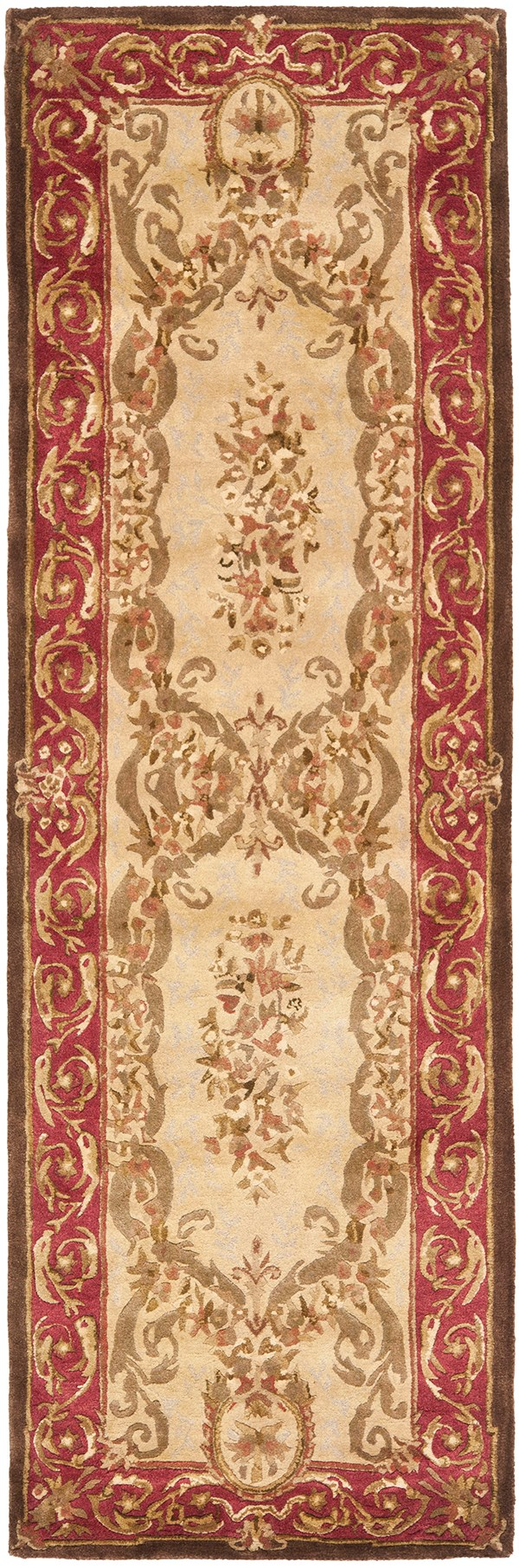 Light Gold, Red (A) Traditional / Oriental Area Rug