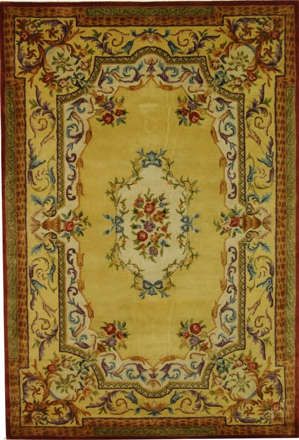 Gold, Gold (A) Traditional / Oriental Area Rug