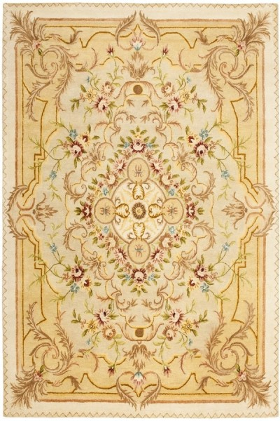 Beige, Light Gold (A) Traditional / Oriental Area Rug