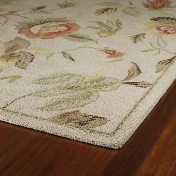 Linen, Terracotta, Brown (1442) Floral / Botanical Area Rug