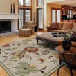 Product Image of Linen, Terracotta, Brown (1442) Floral / Botanical Area Rug