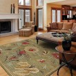 Product Image of Olive, Terracotta, Brown (1223) Floral / Botanical Area Rug