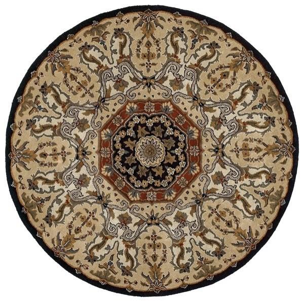 Black, Brick Red, Camel (02) Traditional / Oriental Area Rug