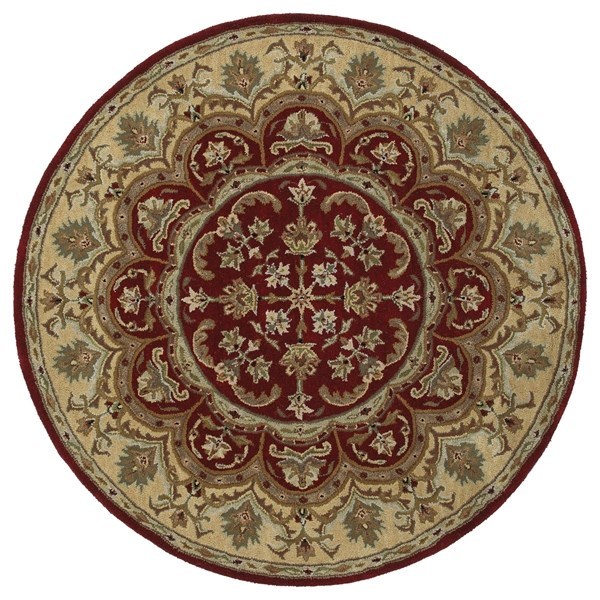 Burgundy, Sage Green, Chocolate (04) Traditional / Oriental Area Rug