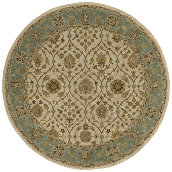 Ivory, Beige, Chocolate (01) Traditional / Oriental Area Rug