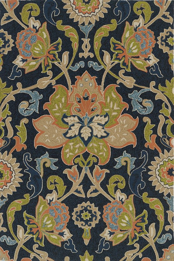 Navy (22) Traditional / Oriental Area Rug